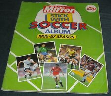 DAILY MIRROR SOCCER STICKER ALBUM 1986-87-100% COMPLETE-EXCELLENT CONDITITION