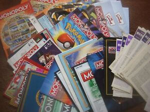 Waddingtons / Parker / Hasbro Monopoly Instruction Booklet Various Editions