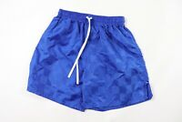 Vintage 90s New Club Level Youth Large Nylon Checkered Soccer Shorts Blue