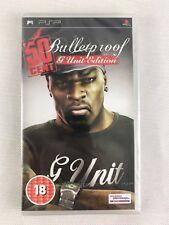 PSP 50 Cent Bulletproof (2006), UK Pal, Brand New & Factory Sealed, Tiny Nick