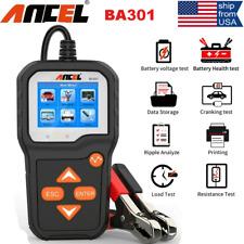 Auto 6V 12V Car Battery Tester Analyzer 100-2000 CCA Cranking Charging System US