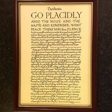 image regarding The Desiderata Poem Printable identified as desiderata poem eBay