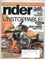 Rider Magazine January 2009- Yamaha TMAX, Buell 1125CR, BMW F800GS