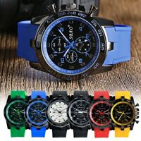 Men Casual Leather Strap Analog Watch Quartz Students Sports Wrist-Watch