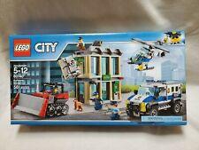 *New LEGO CITY 60140 Bulldozer Break-In Bank Heist Police Car Helicopter Retired