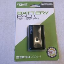 Xbox 360 - BLACK Rechargeable Battery Pack 3900 mAh for Controller KMD
