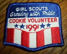 Girl Scouts Gs Vintage Uniform Patch Growing With Pride Cookie Volunteer 1991