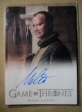 GAME OF THRONES SEASON 7 - TRADING CARD MARK GATISS AUTOGRAPH CARD