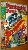 FANTASTIC FOUR #99 KIRBY CLASSIC INHUMANS BLACK BOLT  9.0 W/OW PAGES