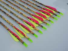 """12 X 31"""" CARBON CAMO ARROWS FOR COMPOUND OR RECURVE BOW TARGET ARCHERY NEW"""