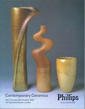 PHILLIPS CONTEMPORARY CERAMICS Cardew Coper Leach Rie Catalog 2000