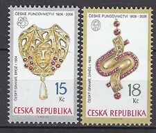 CZECH REPUBLIC 2006 MNH SC# 3312 - 3313 Jewelry with garnets