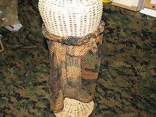 camo tru-leaf hunting turkey face mask half w/elastic band  cover mesh