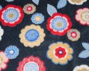 FLOWER CUDDLE FLEECE SOFT TOUCH 58'WIDE  'FLOWERS-IN-TOWN' DESIGN !