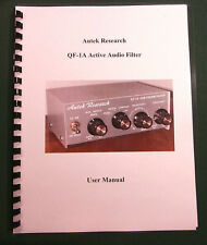Autek Research QF-1A Instruction Manual - Comb bound & protective covers !