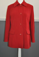 Gerry Weber Women's Red Winter Coat UK 14 60% Wool 20% Cashmere