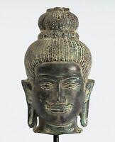 Antigüedad Baphuon Estilo Bronce Vishnu Estatua - Protector De & Conservador -