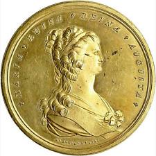 1793 MEXICO CARLOS IV ROYAL ORDER OF NOBLE LADIES GILT BRONZE MEDAL