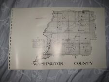 Antique 1914 Washington County Florida Map 1987 Edition Railroad Chipley Rare Nr
