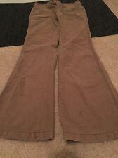 Aeropostale Womens Pants Sz 1/2 Regular Clothes Brown