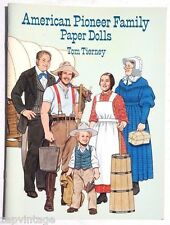 Vintage New 1996 American Pioneer Family Paper Dolls (Tom Tierney) Dover Book