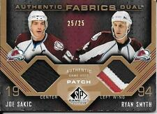 07/08 SP Game Used Fabrics #JR Joe Sakic & Ryan Smyth Dual Patch #25/25