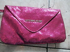 Victoria's Secret Sparkling Pink Gold Make Up Cosmetic Clutch Small Bag