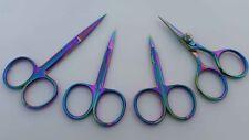 Rainbow Fly Tying Scissors Set Arrow Point+All Purpose+Hair+Razor Scissors 4 Pcs