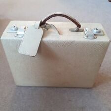 Vintage leather vanity case with original containers