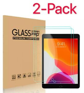 "2-Pack Tempered Glass Screen Protector For iPad 2 3 4 Air Pro 9.7""10.2'10.5"" 11"""