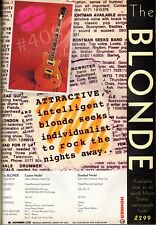More details for the blonde guitar advert -  - 1997.advertisement - by hohner ltd
