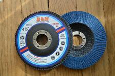 "10pcs JUMBO XL FLAP DISCS 4-1/2"" x 7/8"" 60 GRIT for SS & METAL Grinding Wheel"