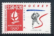 STAMP / TIMBRE FRANCE N° 2741 ** JEUX OLYMPIQUE ALBERVILLE 1992 HOCKEY SUR GLACE