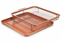 Gotham Steel Nonstick Copper Crisper Tray - Air Fry In Your Oven - Size Large