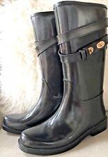 Coach Rain Boots Trisha Rubber Mat Black Rain Boots Size 6
