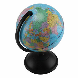20 cm  Rotating Earth Globe World Map Swivel Stand Geography Educational Toy