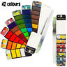 42 Colors Foldable Watercolor Paint Set with Brush for Field Sketch Outdoor  」