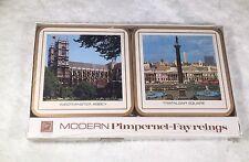 Vintage Coasters Set of 6 Modern Pimpernel Fayreings London NIB Cork Back 4x4