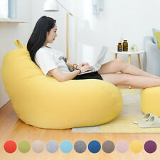 Adults Kids Large Bean Bag Chair Sofa Couch Cover Indoor Lazy Lounger Indoor NEW