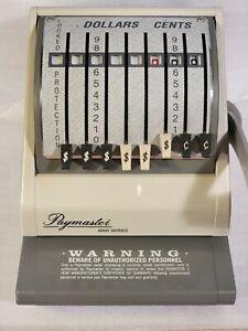 Paymaster 9000-8 Check Writer / Protector Beige  w/ Keys