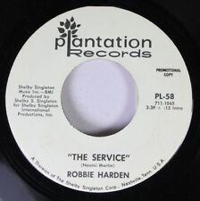 Country Promo 45 Robbie Harden - The Service / The Service On Plantation Records