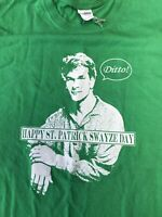 St. Patrick Swayze Day Funny Themed Kelly Green T-Shirt Genderless  Large