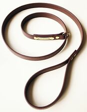 SLIP LEAD DOG LEASH BROWN BIOTHANE & SOLID BRASS VERY STRONG Leashtech