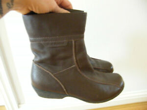 HUSH PUPPIES BOOTS WAVE REFLEX BOOTS BROWN LEATHER SIZE UK 7 VGC