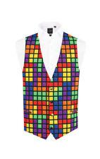 Gilet da uomo multicolore con bottone
