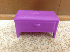 Barbie Doll House Bedroom Furniture Purple Vanity Stoo 00004000 l Chair Footrest Ottoman