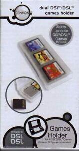 GameOn Games Holder Case (holds 6 Nintendo DSi, XL, 3DS games ), - Brand New