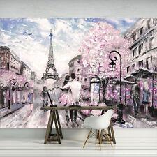 Tapete Fototapete Tapete Rosa Paris Stadt Liebe Kunst Art Abstraktion 11470 P8