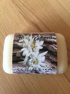 "Schafmilchseife / Seife  ""Edelweiß"" BDIH zertifiziert mit Banderole"