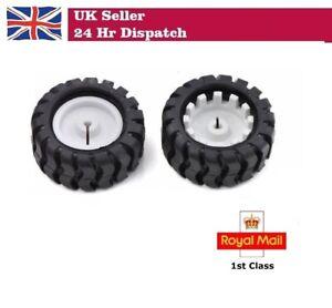 2 x POLOLU Rubber Wheels 43x19mm D Type N20